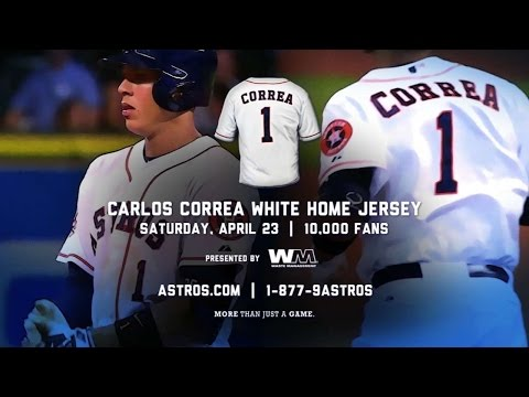 cheap for discount 39679 1b5ee Correa white home jersey giveaway - YouTube