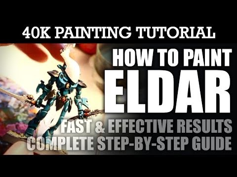 How to Paint ELDAR Painting Tutorial (You can use this technique for all units/vehicles) | HD