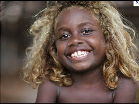 Australian aborigines with blonde hair