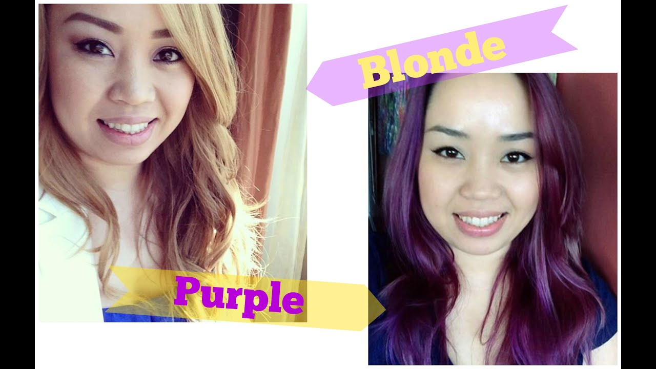 Updatehow I Went From Blonde To Purple Youtube