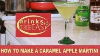 How To Make A Caramel Appletini (martini)-drinks Made Easy