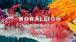 KORÁLLION - Fantasy coral art made entirely from paper