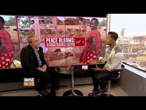 Arise News interview with Phil Vernon on the Peace Blooms exhibition