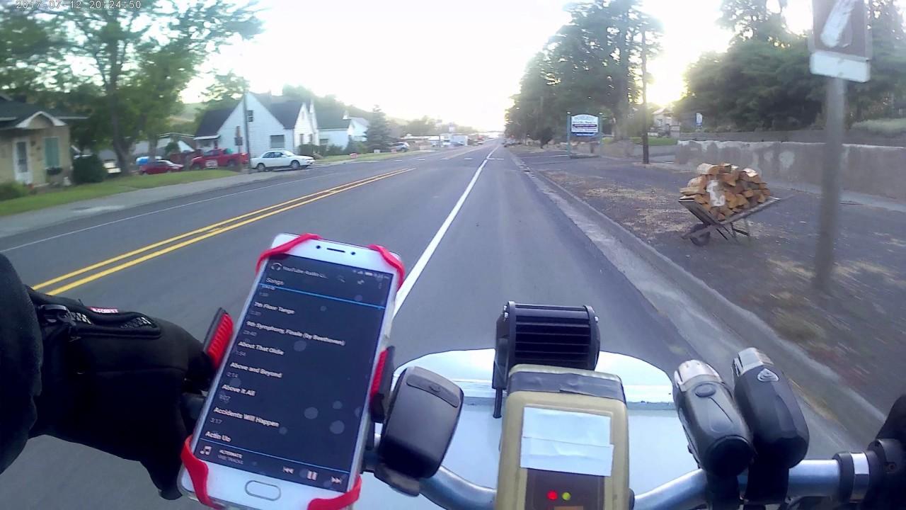 4K Pomeroy Washington E-Bike Ride Pataha Street Main Villard POV Evening  Garfield County WA
