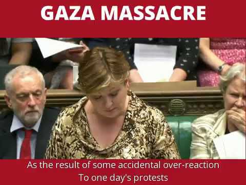 Emily Thornberry powerfully condemns the Gaza massacre committed by the state of Israel