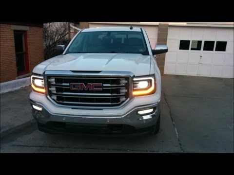 2016 Gmc Sierra Led Headlights Turn Signals And Fog Lights