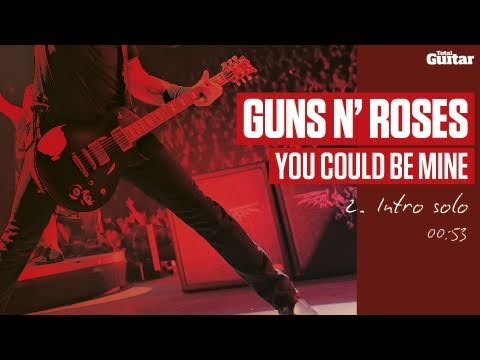 Guitar Lesson: Guns N' Roses 'You Could Be Mine' -- Part Two -- Intro Solo (TG216)