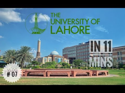 The University of Lahore in 11 mins - Lahore - Vlog#07