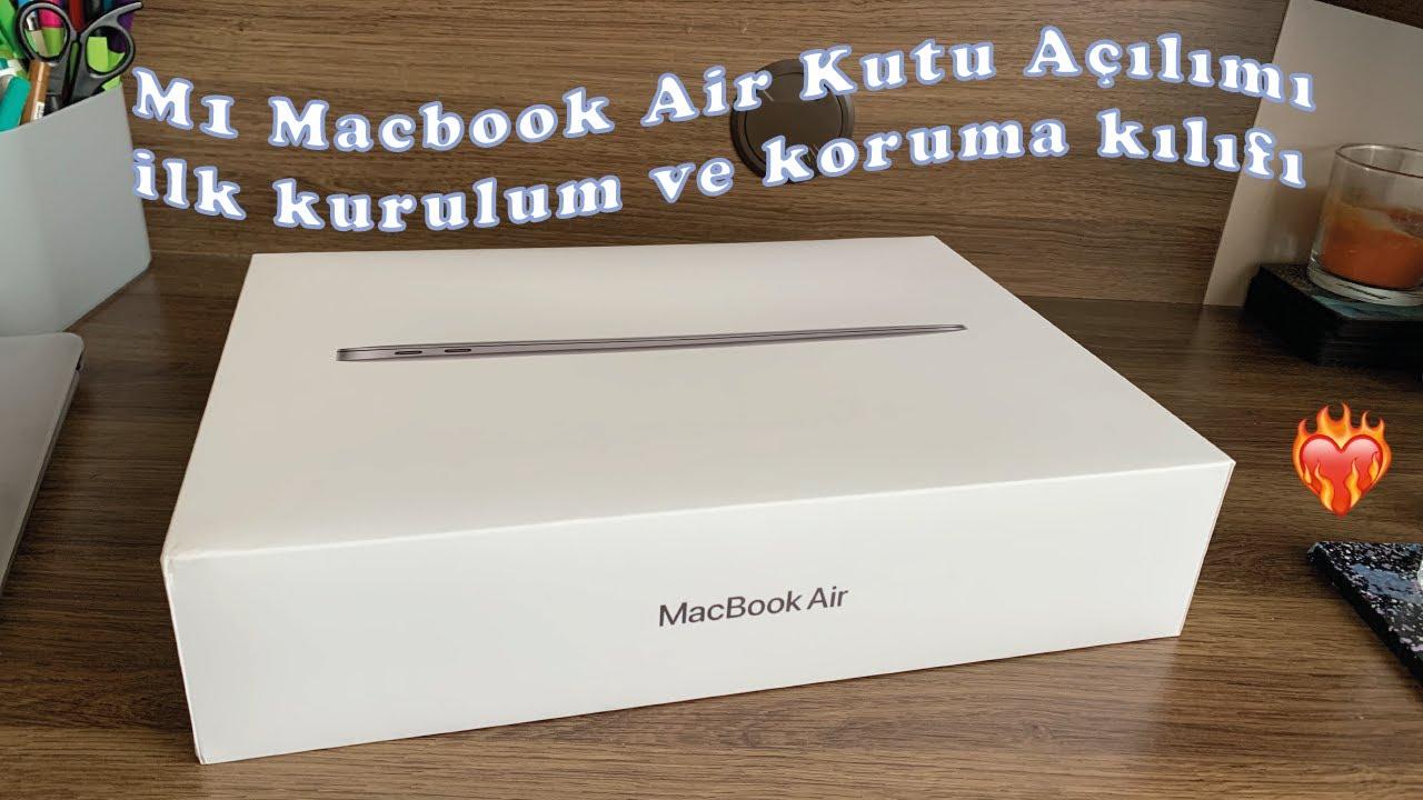 Macbook Air M1 Kutu Açılımı, İlk Kurulum ve Koruma Kılıfı 🎉😍👨🏻💻