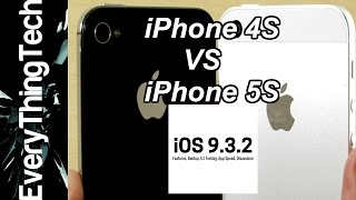 iPhone 4S iOS 9.3.2 VS iPhone 5S iOS 9.3.2(Hello there everybody around the world and welcome to iPhone 4S iOS 9.3.2 VS iPhone 5S iOS 9.3.2. We pit both iPhone's together in a series of tests to find ..., 2016-05-31T16:10:31.000Z)