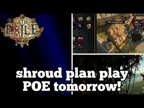 shroud plan play POE tomorrow! | Daily Path of Exile Highlights