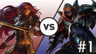 Katlife   When Your Team is Behind - Katarina vs Zed 1   High ELO Gameplay