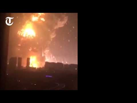 Video  Tianjin  Watch the huge explosions that rocked the Chinese city   Telegraph