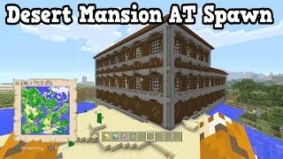 Minecraft PS4 / Wii U Seed - 2 Desert Mansions Next To Villages