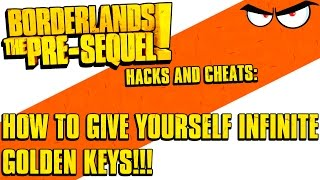 borderlands the pre sequel infinite golden keys hack how to using pc stat editor cheat tool