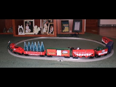 The Christmas Express Electric Train Set Review - YouTube