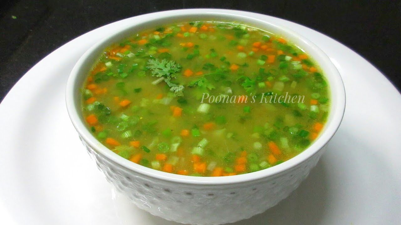 Vegetable Clear Soup Recipe Simple Easy Healthy Vegetable Clear