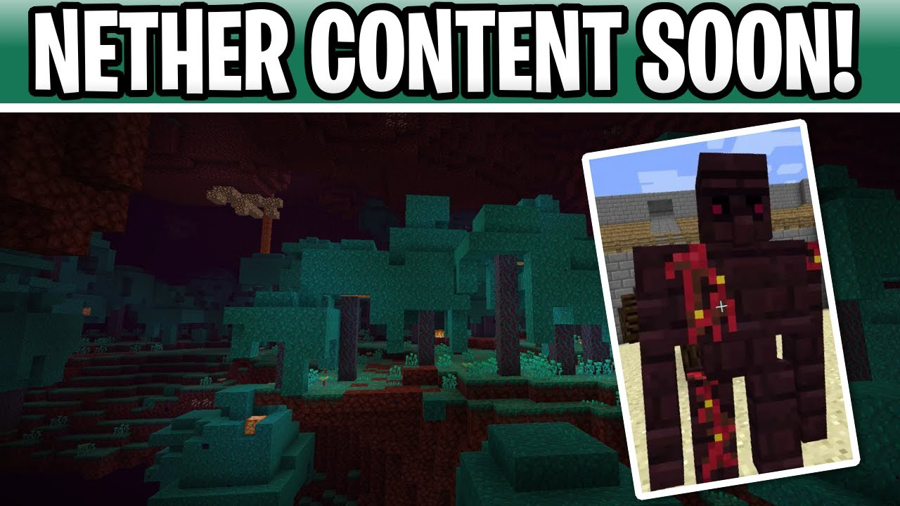 Minecraft 12.126 Nether Update Content Coming Soon! New Mobs Confirmed!