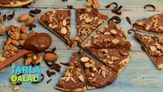 Chocolate Pizza by Tarla Dalal