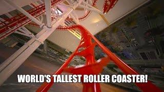 skyscraper skyfall world s tallest roller coaster drop tower real animation pov shots