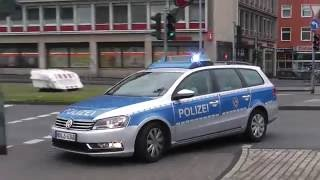 Schuss auf Streifenwagen - Einsatzfahrten Polizei Köln