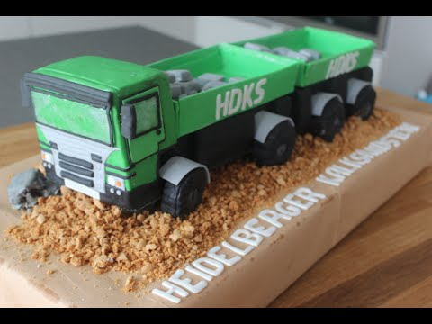 3 D Lkw Torte Truck Cake Schritt Fur Schritt Anleitung Youtube