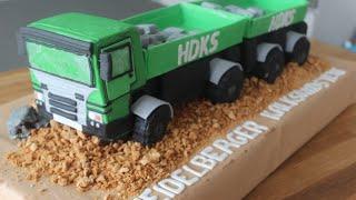 3 D LKW Torte / Truck Cake / Schritt für Schritt Anleitung