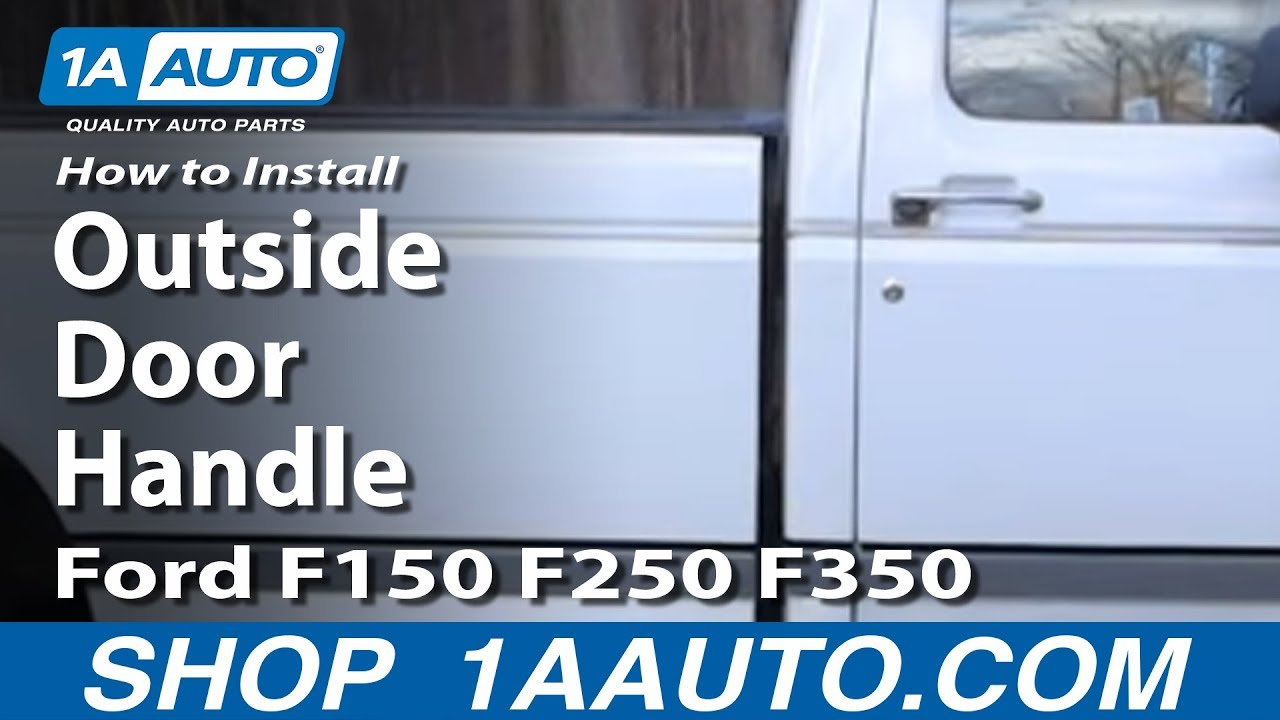 how to install replace outside door handle ford f150 f250 f350 80 96 rh youtube com 1999 explorer wire diagram door locks ford door lock mechanism diagram [ 1280 x 720 Pixel ]