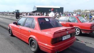 Drag Racing CAMPIA TURZII BMW E30 2.5i vs BMW E30 3.0i