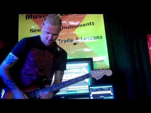 Gary Hoey at Richs Music Exchange demos G-DEC part 1