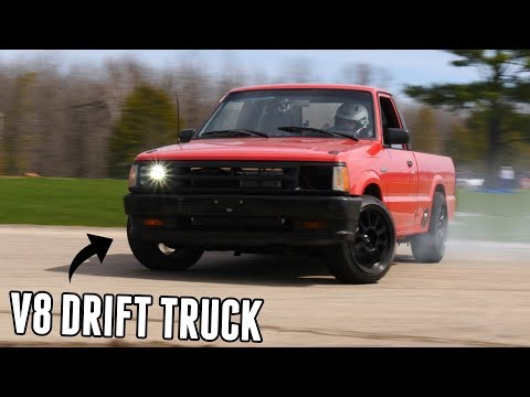 First Drift Event In The V8 MAZDA DRIFT TRUCK! - Its INCREDIBLE!!!!!