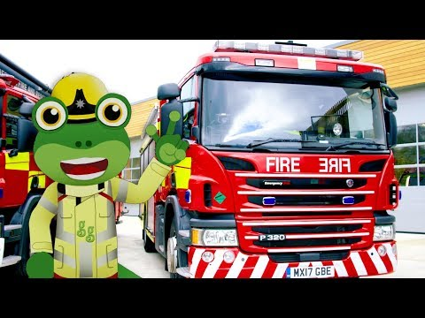 Fire Truck - Gecko's Real Vehicles | Trucks For Kids | Learning Videos For Toddlers | Firefighters