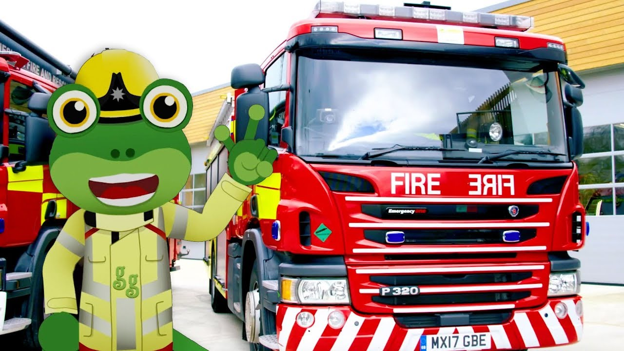 Fire Truck - Gecko's Real Vehicles | Trucks For Kids ...