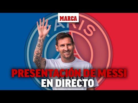 Presentación de Messi como nuevo jugador del PSG en DIRECTO  | MARCA