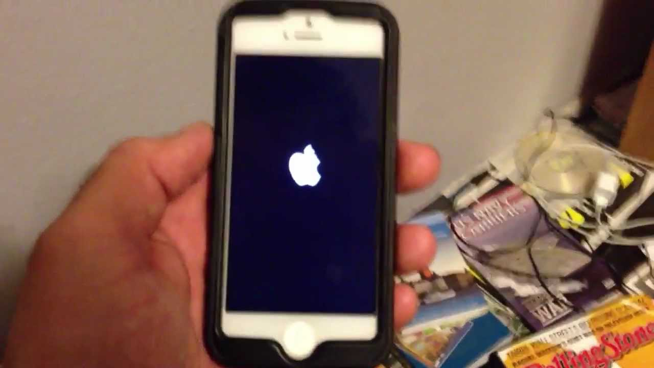 my iphone keeps restarting iphone 5 ios 6 1 2 blue screen of followed by 15734