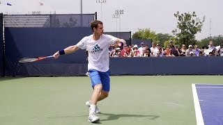 Andy Murray Forehand In Super Slow Motion 3 - 2013 Cincinnati Open
