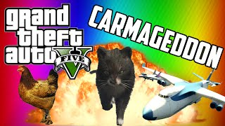 GTA 5 Carmageddon! Terrible Taxi Driver - Animal Apocalypse! thumbnail