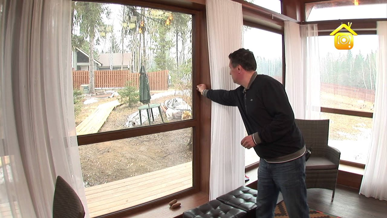 Каркасный дом с панорамными окнами // forumhouse - youtube.