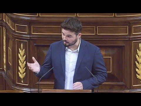 GABRIEL RUFIAN (ERC) ataca con VERDADES al PP en el Congreso (30/05/2017)