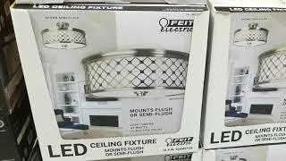 Costco! FEIT LED Semi / Flush Mount Ceiling Fixture!   $39!!!