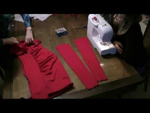 Metodo Sitam: abito rosso draping -