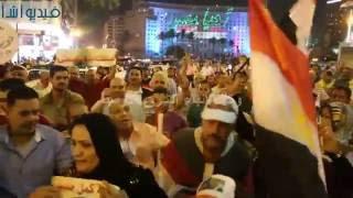 بالفيديو : العاب نارية وهتافات فى ذكرى 30 يونيو