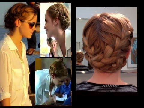 Emma Watson French Braids Easy Hairstyles For Long Hair School
