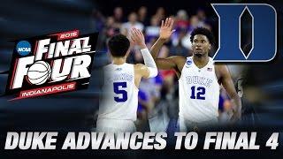 Freshmen Lead Duke Past Gonzaga, Win South Region | Duke in the Final Four