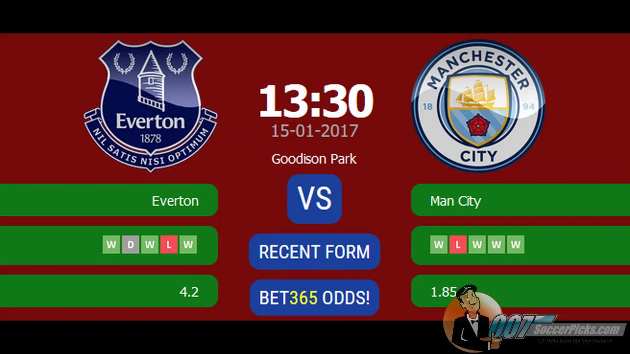Everton vs Manchester City PREDICTION (by 007Soccerpicks ...