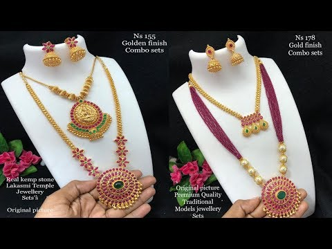 New Arrival One Gram Gold Necklace Design Combo Sets With Price Youtube