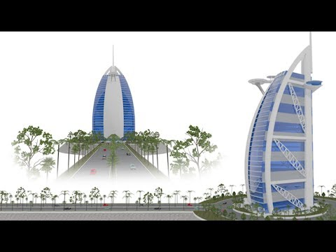 Dubai Tower Burj al Arab Hotels with ArchiCAD