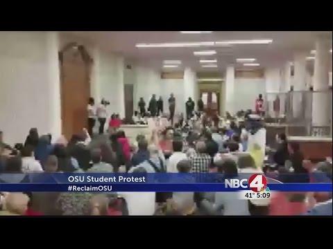 OSU student sit-in cut short by arrest threat