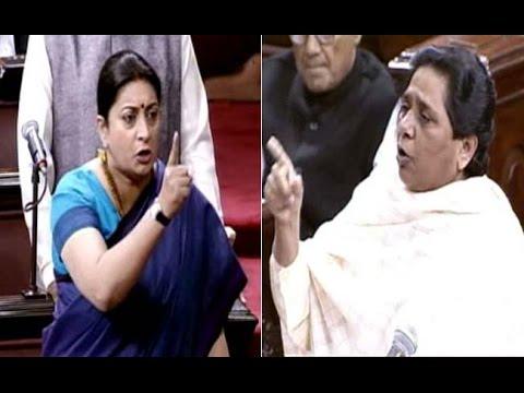 Mayawati Vs Smriti Irani over Rohith Vemula suicide