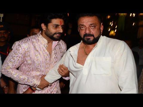 Sanjay Dutt arrives Drunk at Amitabh Bachchan's Diwali Party 2016 | Uncut Video